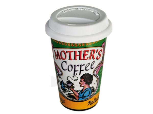 Keramikinis puodelis išsinešimui su dangteliu Paveikslėlis 2 iš 7 310820060257