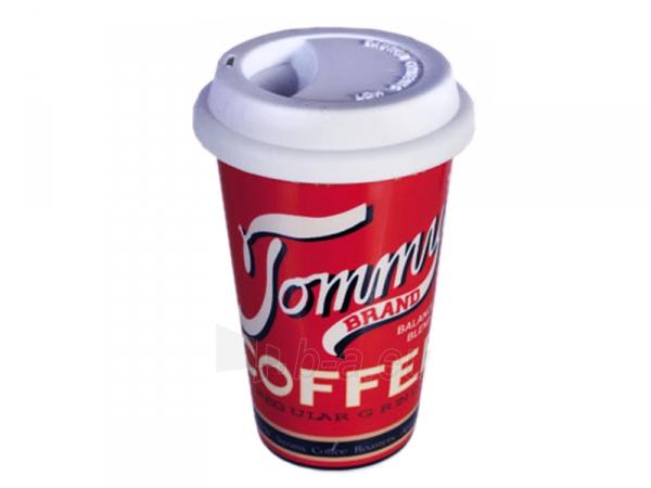 Keramikinis puodelis išsinešimui su dangteliu Paveikslėlis 3 iš 7 310820060257