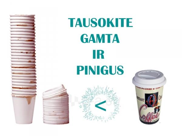 Keramikinis puodelis išsinešimui su dangteliu Paveikslėlis 4 iš 7 310820060257