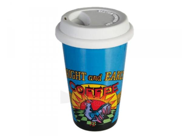 Keramikinis puodelis išsinešimui su dangteliu Paveikslėlis 5 iš 7 310820060257