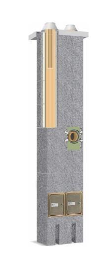 Keraminis kaminas SCHIEDEL Absolut 6,66m/140mm+140mm. Paveikslėlis 3 iš 4 310820050384