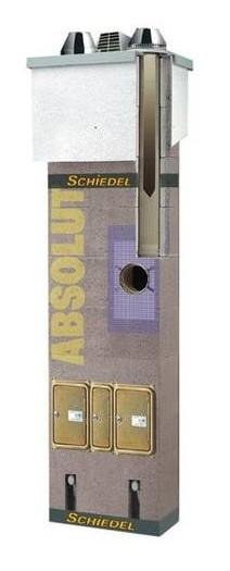 Keraminis kaminas SCHIEDEL Absolut 9,66m/160mm su ventiliacijos kanalu Paveikslėlis 3 iš 4 310820050210