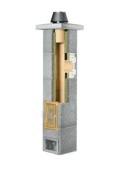 Keraminis kaminas SCHIEDEL Rondo Plus 9m/140mm su ventiliacijos kanalu Paveikslėlis 4 iš 5 310820047840