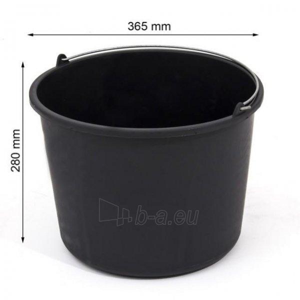 Kibiras IWIR20 statybinis plastikinis juodas 20 L Paveikslėlis 1 iš 1 300467000045