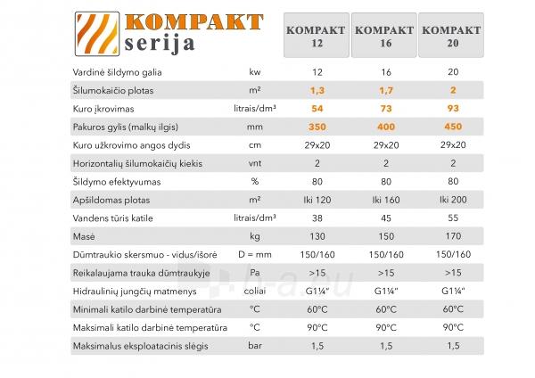 Kieto kuro katilas KOMPAKT 12, 12kW Paveikslėlis 5 iš 5 310820106648