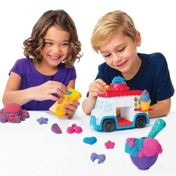 Kinetinis smėlis 6035805 Kinetic Sand Build Ice Cream Truck Mold Build It Playset Modelling Play Toy Paveikslėlis 1 iš 6 310820136687