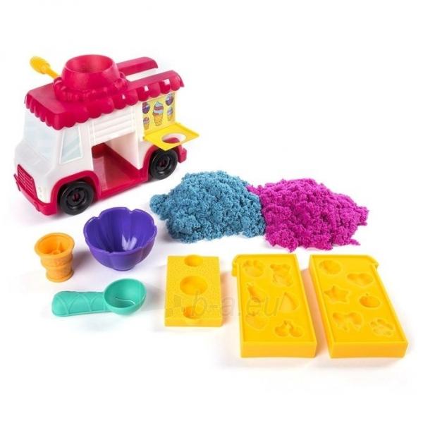 Kinetinis smėlis 6035805 Kinetic Sand Build Ice Cream Truck Mold Build It Playset Modelling Play Toy Paveikslėlis 2 iš 6 310820136687