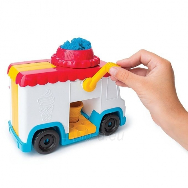 Kinetinis smėlis 6035805 Kinetic Sand Build Ice Cream Truck Mold Build It Playset Modelling Play Toy Paveikslėlis 3 iš 6 310820136687