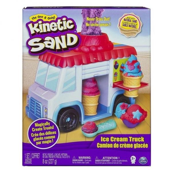 Kinetinis smėlis 6035805 Kinetic Sand Build Ice Cream Truck Mold Build It Playset Modelling Play Toy Paveikslėlis 5 iš 6 310820136687