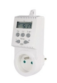 Kištukinis programuojamas patalpos termostatas TS10, 16A Paveikslėlis 1 iš 1 310820039242