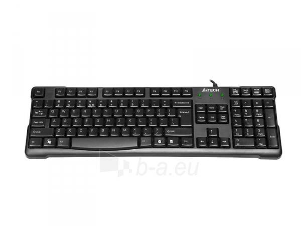 Klaviatūra A4-Tech KR-750 USB Juoda, US Paveikslėlis 2 iš 4 250255700969