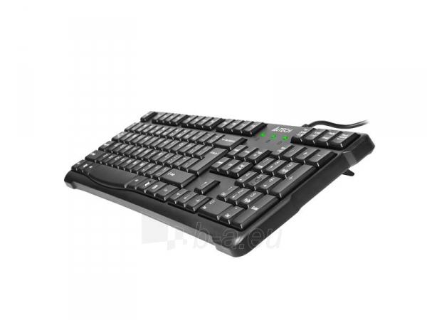 Klaviatūra A4-Tech KR-750 USB Juoda, US Paveikslėlis 3 iš 4 250255700969
