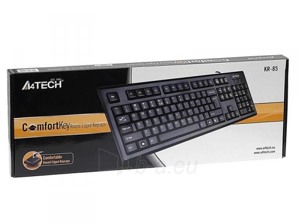 Klaviatūra A4-Tech KR-85 USB, US Paveikslėlis 4 iš 4 250255700971