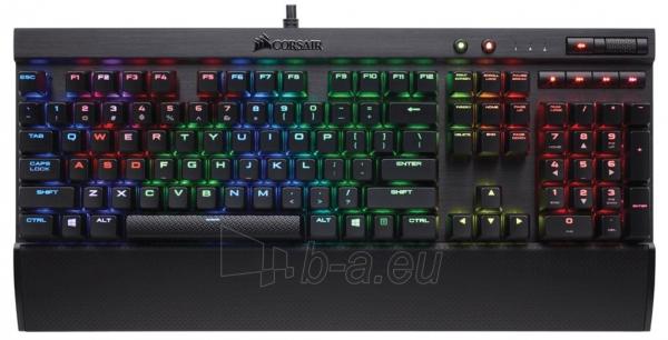 Klaviatūra Corsair K70 LUX RGB Mechanical Gaming Keyboard - Cherry MX RGB Brown, EU Paveikslėlis 1 iš 2 310820029629