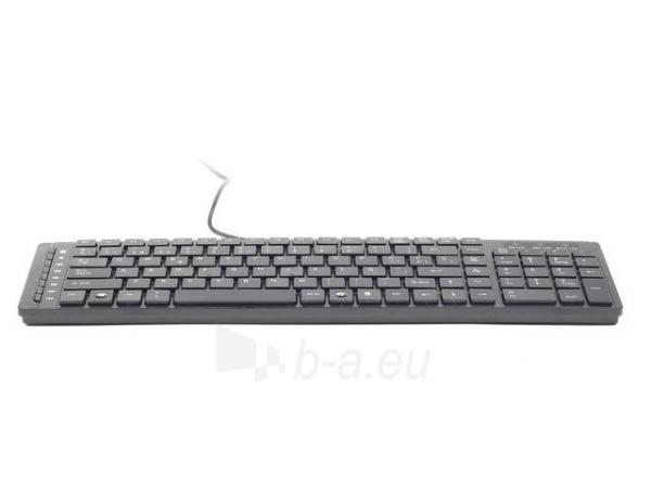 Klaviatūra Gembird KB-MCH-01, USB 1.5m, Chiclet, Multimedia, RU layout Paveikslėlis 5 iš 5 250255701337