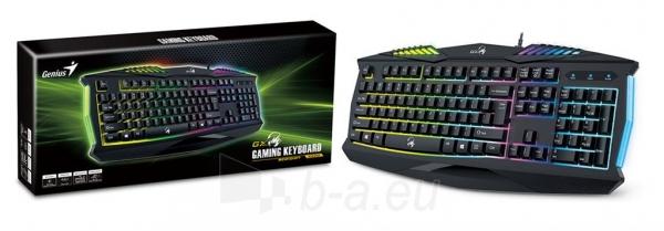 Klaviatūra Genius keyboard Scorpion K220, black, 7 color illuminated Paveikslėlis 7 iš 7 310820014940