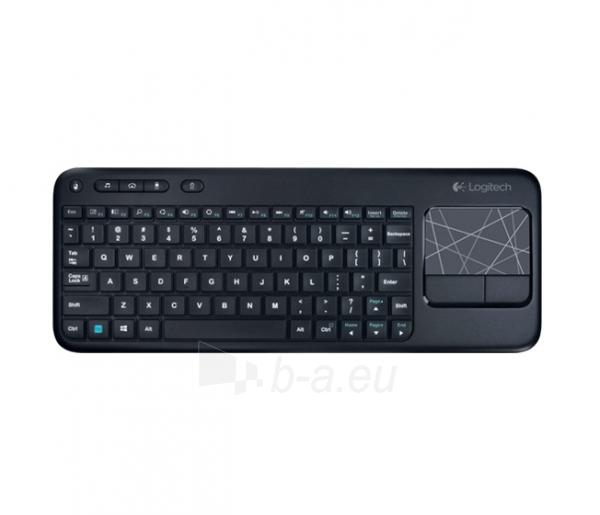 Klaviatūra LOGITECH Wrls Touch Keyboard k400 black Paveikslėlis 1 iš 1 310820011723