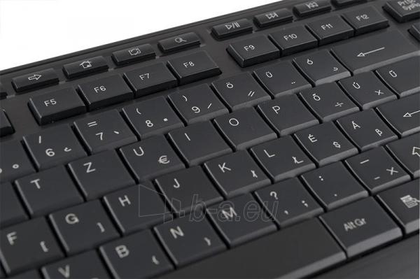 Klaviatūra MODECOM MC-5005 USB Juoda  Hungarian Layout Paveikslėlis 2 iš 2 250255701344