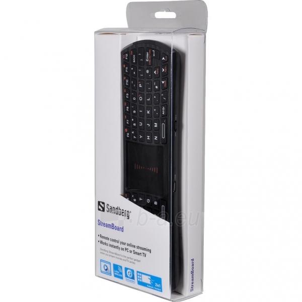 Klaviatūra Sandberg StreamBoard UK Paveikslėlis 2 iš 2 250255701356