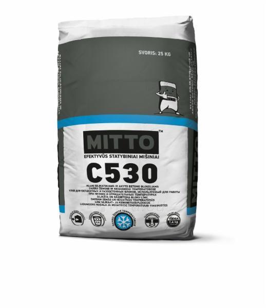 MITTO C530 Klijai silikatiniams ir akyto betono blokams (-10°C ) 25kg Paveikslėlis 1 iš 1 310820114747