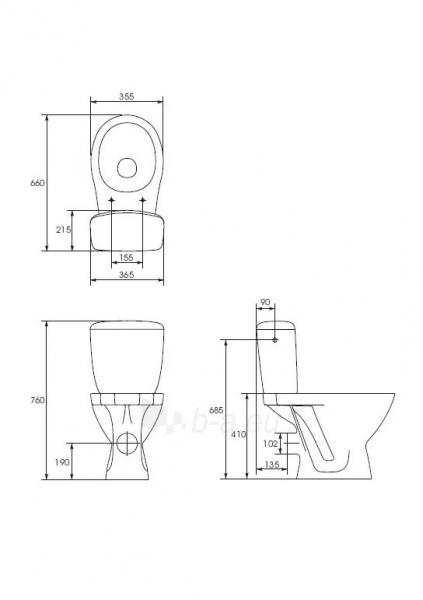 Toilet Cersanit TRENTO 3/6 l Paveikslėlis 3 iš 3 270713000714