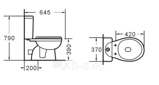 Toilet GRA-017P Paveikslėlis 5 iš 6 270713000408