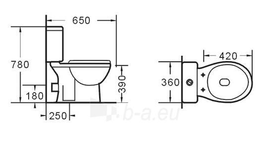 Klozetas GRA-055P Paveikslėlis 1 iš 6 270713000411