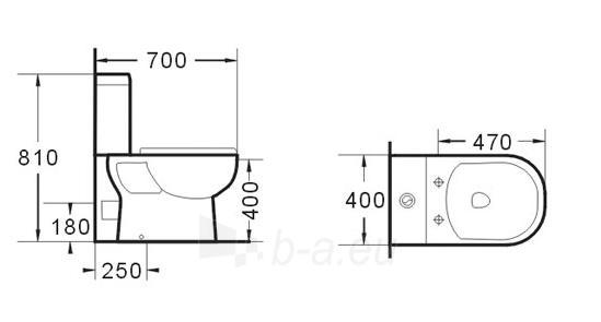 Tualete GRA-065P Paveikslėlis 3 iš 4 270713000417