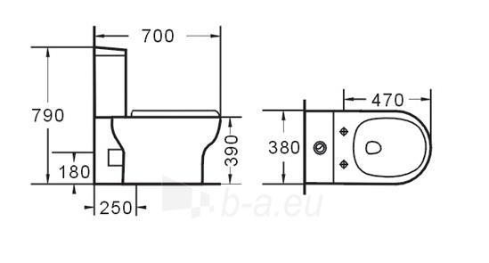 Toilet GRA-080P Paveikslėlis 3 iš 6 270713000419