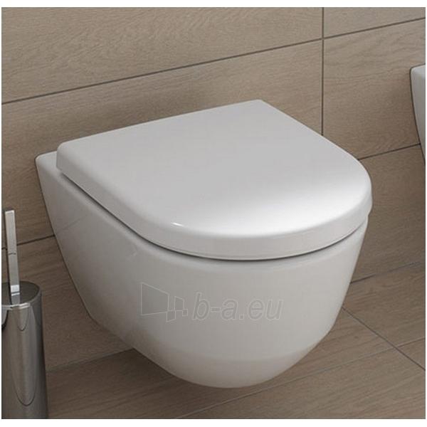 Toilet Laufen Pro New  tvirtinamas prie sienos 53cm, baltas Paveikslėlis 1 iš 6 270713000734