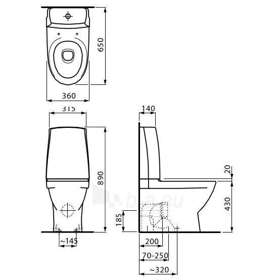 Toilet Laufen PRO NORDICS horizontal Paveikslėlis 2 iš 6 270713000735
