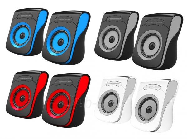 Kolonėlės ESPERANZA EP140KR FLAMENCO - 2.0 USB - 2 x 3W Paveikslėlis 2 iš 2 310820156510
