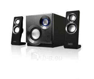Kolonėlės Sweex 2.1 60W Purephonic Black/ Silver Paveikslėlis 4 iš 4 250255800579