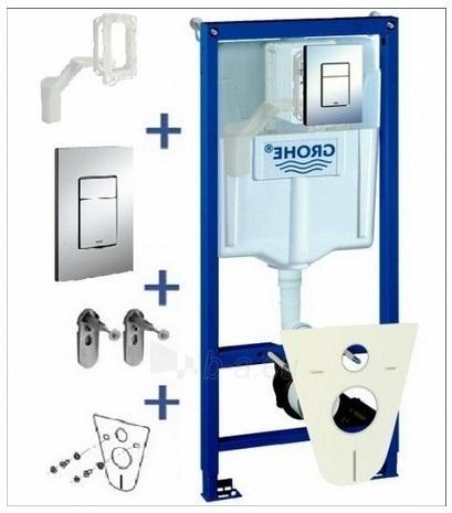 Komplektas Grohe WC rėmas+Cosmo+sieniniai tvirtinimai+tarpiklis+Grohefresh (5in1) Paveikslėlis 2 iš 4 270713000737