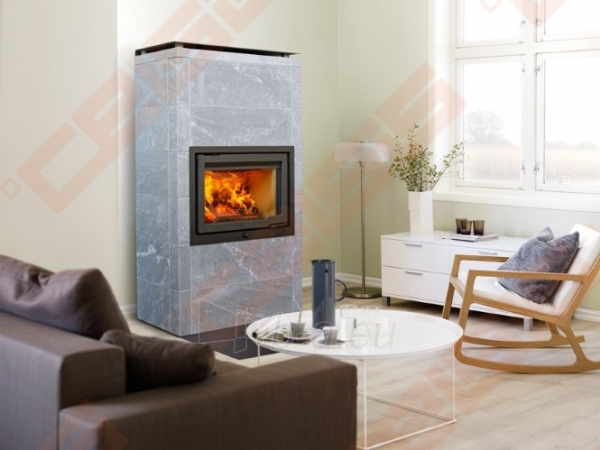Komplektas Jøtul FS 166 (1025 x 1835 x 536). Apdaila iš steatito su ugniakuru Jøtul I 570 FL, dekoratyviniu rėmu ir pelenų dėže Paveikslėlis 3 iš 6 300559000014