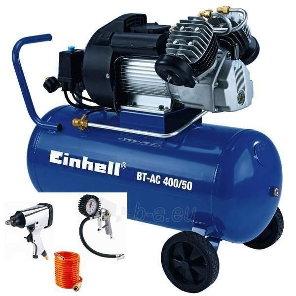 KOmpresorius Einhell BT-AC 400/50 SET Paveikslėlis 1 iš 1 225291000082