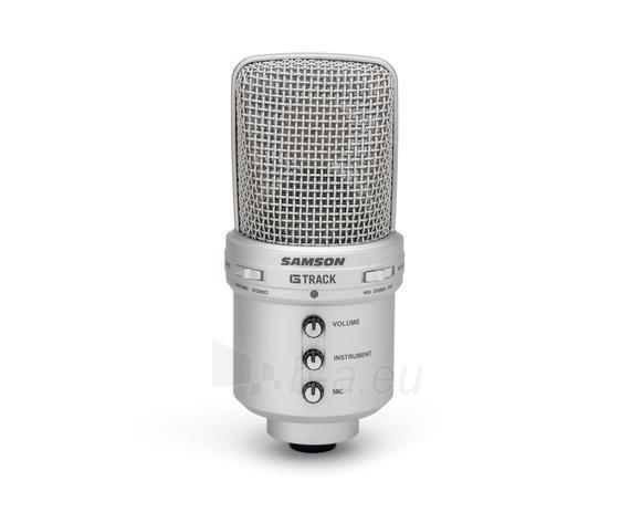 Kondensatorinis mikrofonas SAMSON G-Track USB su Audio sąsaja ir mikšeriu Paveikslėlis 2 iš 9 250255091071