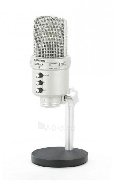 Kondensatorinis mikrofonas SAMSON G-Track USB su Audio sąsaja ir mikšeriu Paveikslėlis 3 iš 9 250255091071