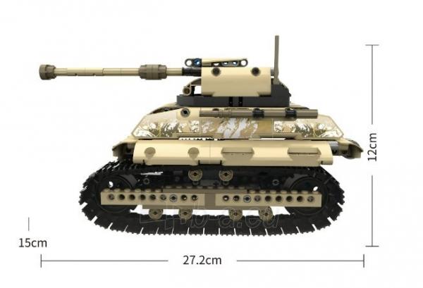 Konstruktorius – tankas, valdomas nuotoliniu būdu Paveikslėlis 6 iš 12 310820251467