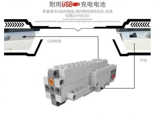 Konstruktorius – tankas, valdomas nuotoliniu būdu Paveikslėlis 4 iš 12 310820251467