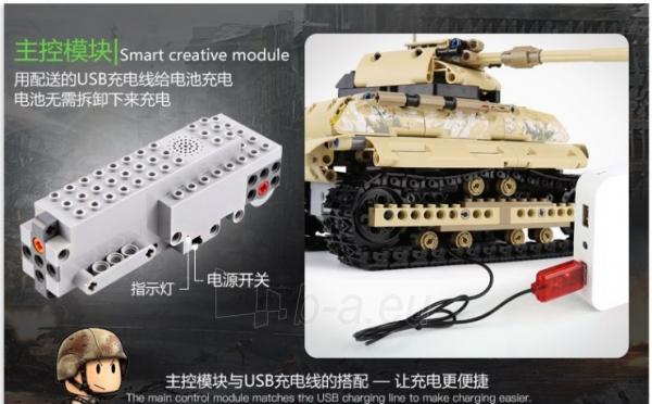 Konstruktorius – tankas, valdomas nuotoliniu būdu Paveikslėlis 3 iš 12 310820251467