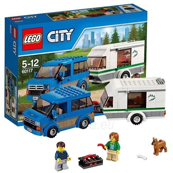 Konstruktorius 60117 Lego City Фургон и дом на колёсах Paveikslėlis 1 iš 1 30005401548