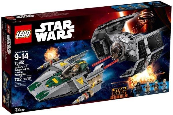 Konstruktorius 75150 LEGO Star Wars Dartas Veideris ir kovotojas A-Wing, nuo 9 m. Paveikslėlis 1 iš 1 310820048287