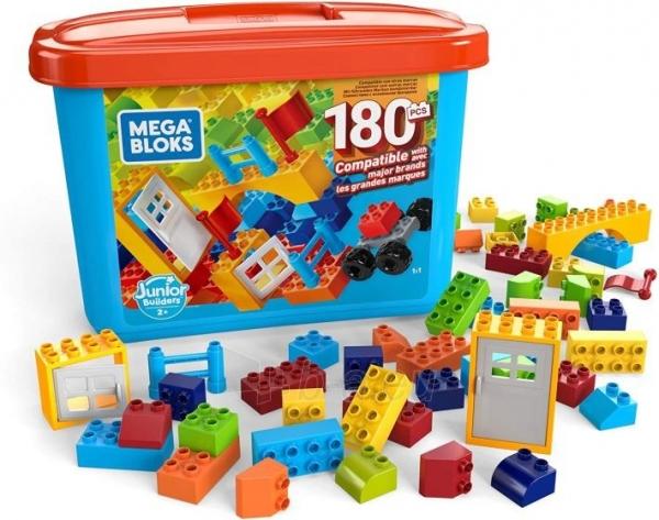 Konstruktorius GJD22 Mega Bloks Mini Bulk Tub - Large 180 PCS MATTEL Paveikslėlis 1 iš 3 310820230381