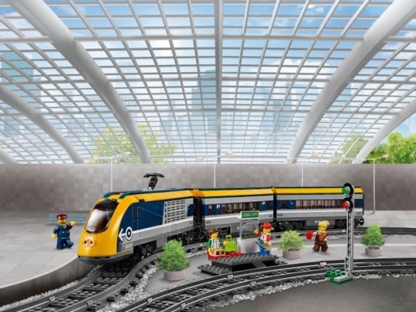 Konstruktorius LEGO 60197 City Trains Passenger Train Set, Battery Powered Engine Paveikslėlis 2 iš 6 310820249511