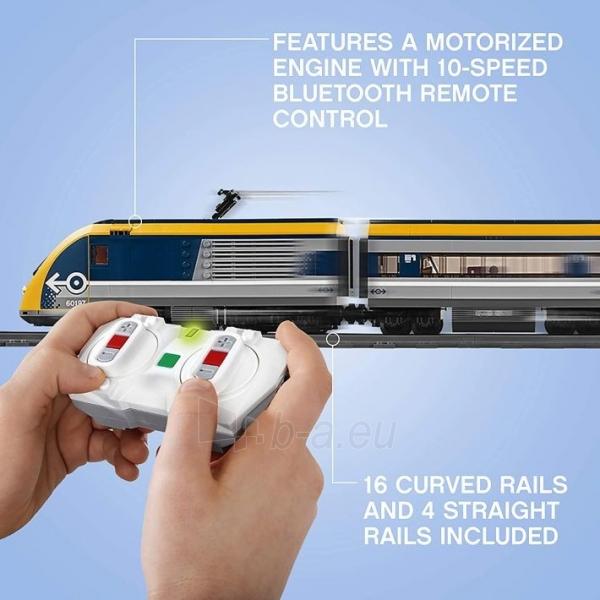 Konstruktorius LEGO 60197 City Trains Passenger Train Set, Battery Powered Engine Paveikslėlis 5 iš 6 310820249511
