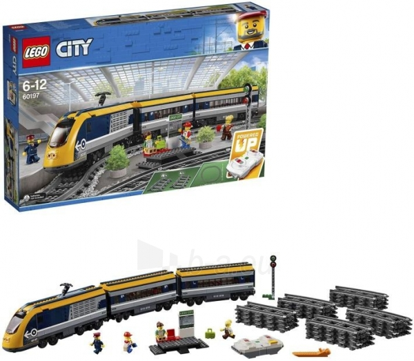 Konstruktorius LEGO 60197 City Trains Passenger Train Set, Battery Powered Engine Paveikslėlis 6 iš 6 310820249511