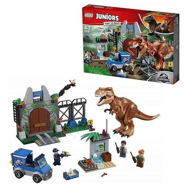 Konstruktorius Lego Juniors Jurassic World Побег Ти-Рекса 10758 Paveikslėlis 1 iš 1 310820153101