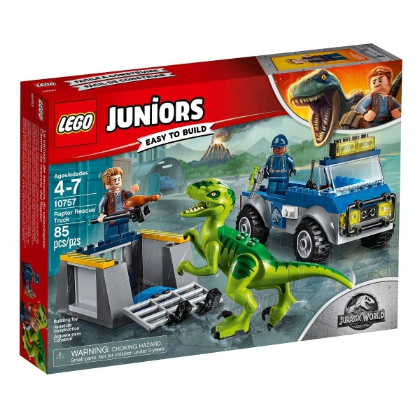 Konstruktorius LEGO Juniors Raptor Rescue Truck E1219 Paveikslėlis 1 iš 4 310820145800