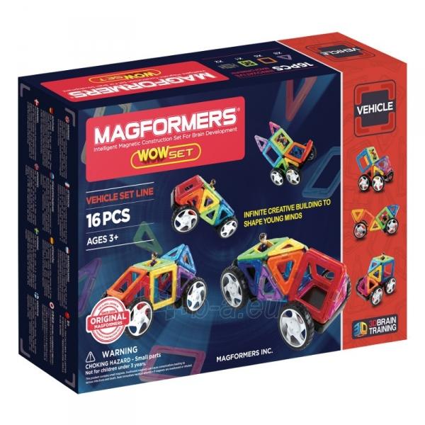 Konstruktorius MAGFORMERS 707004 Wow set 16P Paveikslėlis 2 iš 3 310820143206